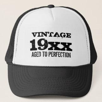Boné O vintage envelheceu ao chapéu do aniversário da