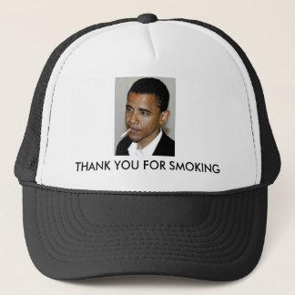 Boné Obama, obrigado fumando