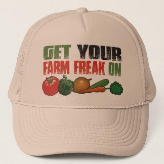 Boné Obtenha seu anormal da fazenda no chapéu de