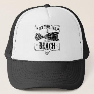 Boné Obtenha sua cauda à praia
