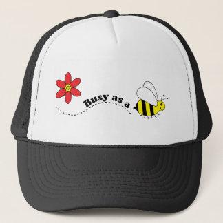 Boné Ocupado como desenhos animados felizes das abelhas