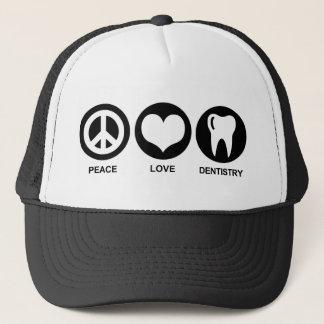 Boné Odontologia do amor da paz
