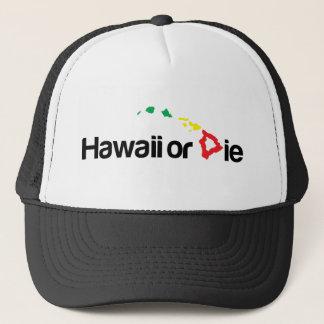 Boné OG Havaí ou morrem logotipo - cores de Rasta