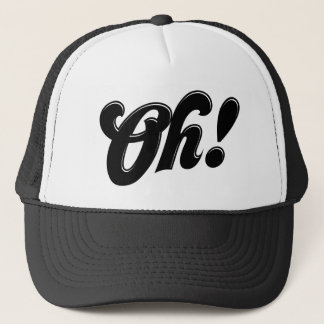Boné Oh! Chapéu retro bonito da tipografia