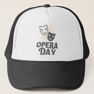 Boné Oitavo fevereiro - dia da ópera - dia da