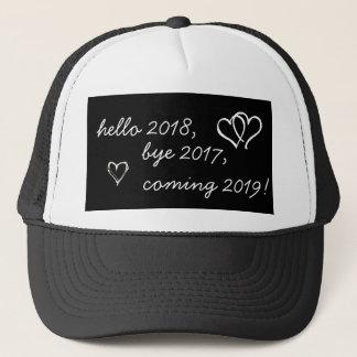 Boné Olá! 2018, adeus 2017, vindo 2019