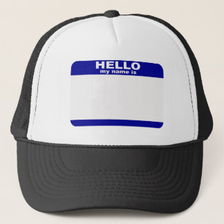 Boné Olá!, meu nome é…