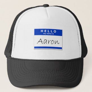Boné Olá! meu nome é Aaron