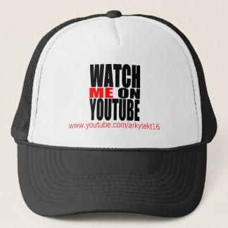 Boné Olhe-me em YouTube   modernos (escuro)