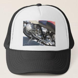 Boné Opinião lateral cromada motocicleta do detalhe do