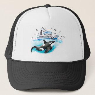 Boné Orca e o barco