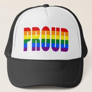Boné ORGULHOSO (arco-íris do orgulho gay)