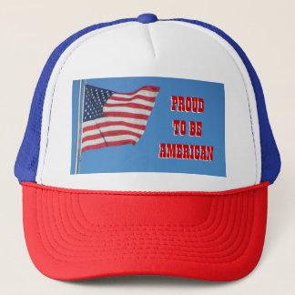 Boné Orgulhoso ser americano com bandeira