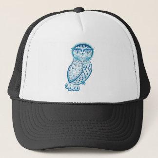 Boné Ornamental azul Owl2