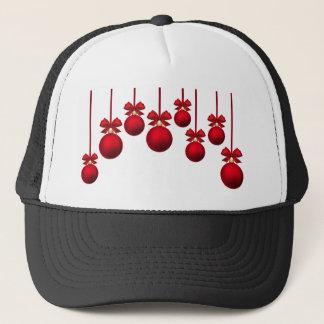 Boné ornamento vermelho do xmas