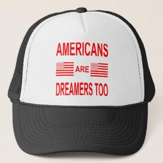 Boné Os americanos são sonhadores demasiado
