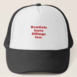 Boné Os dentistas têm enchimentos demasiado