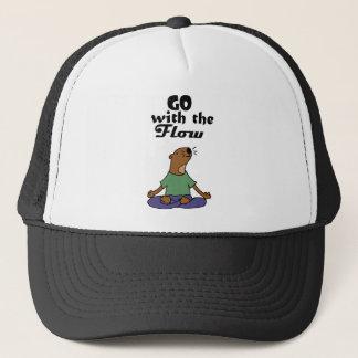 Boné Os desenhos animados legal da ioga da lontra de