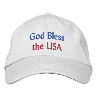 Boné Os deus abençoe os EUA bordaram o chapéu