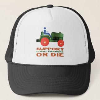 Boné Os fazendeiros locais do apoio ou morrem