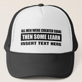 Boné Os homens criaram o design igual