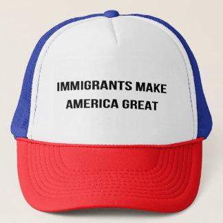 Boné Os imigrantes fazem o excelente de América -