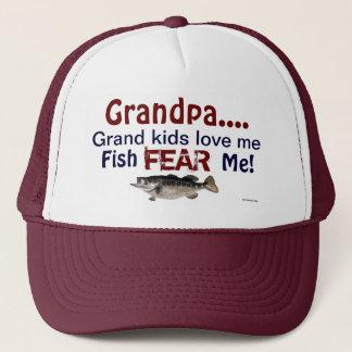 Boné Os miúdos grandes do vovô… amam-me que os peixes