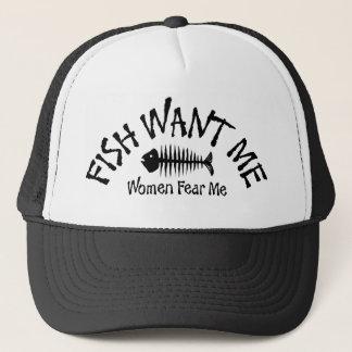 Boné Os peixes querem-me que as mulheres temem-me