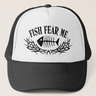 Boné Os peixes temem-me tatuagem