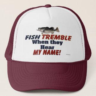 Boné Os peixes tremem quando ouvem meu chapéu conhecido