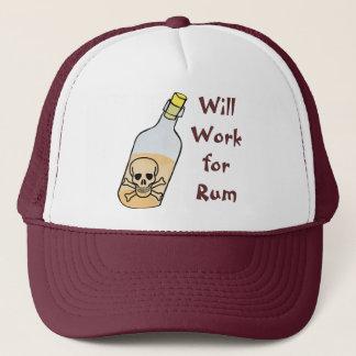 Boné Os piratas trabalharão para o rum