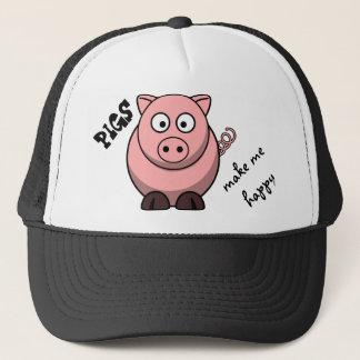 Boné Os porcos fazem-me feliz