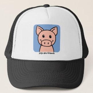 Boné Os porcos são amigos