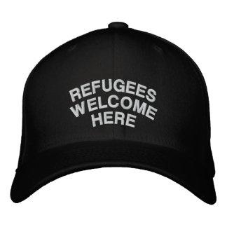Boné Os refugiados são bem-vindos aqui