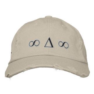 Boné Os símbolos afligiram o chapéu da sarja