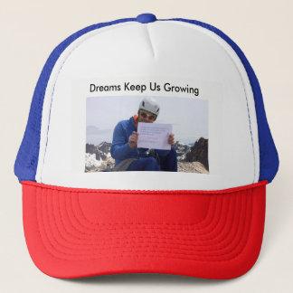 Boné Os sonhos mantêm-nos chapéu crescente