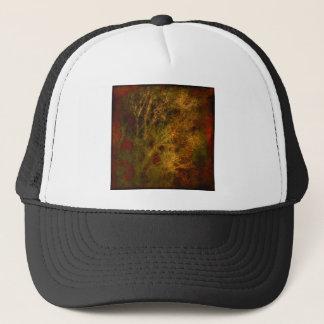 Boné Ouro e abstrato vermelho dos ramos de árvore
