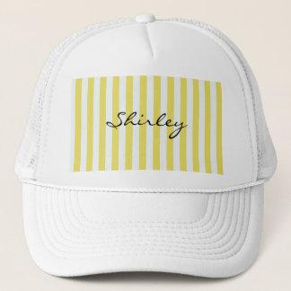 Boné Ouro pálido e listras brancas por Shirley Taylor