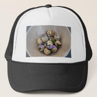 Boné Ovos de codorniz & flores 7533