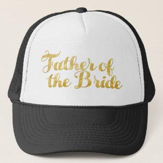 Boné Pai do ouro da noiva