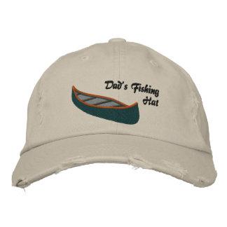 Boné Pais que pescam o chapéu com canoa