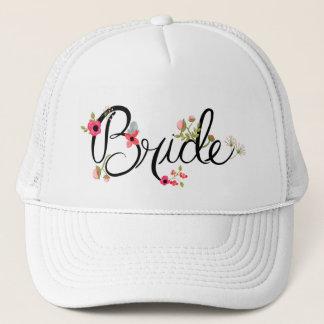 Boné Palavra bonita da noiva com o chapéu do camionista