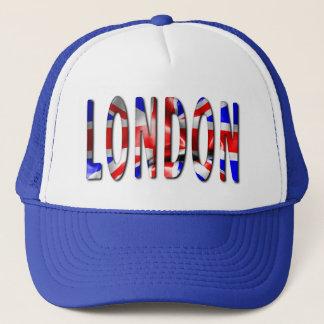 Boné Palavra de Londres com o chapéu do camionista da