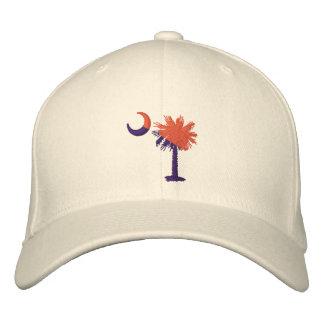 Boné Palmetto alaranjado e roxo chapéu bordado