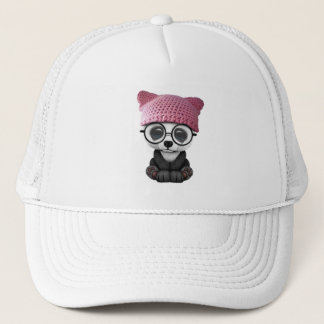 Boné Panda bonito do bebê que veste o chapéu do bichano