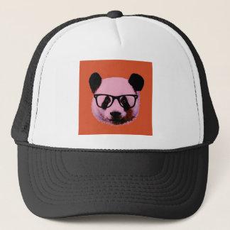 Boné Panda com vidros na laranja