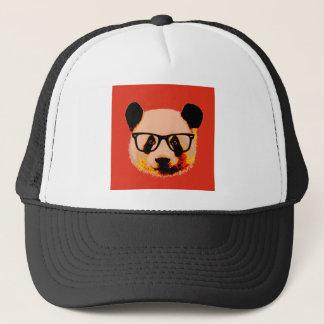 Boné Panda com vidros no vermelho