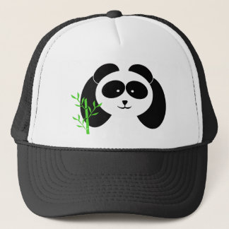 Boné Panda e bambu