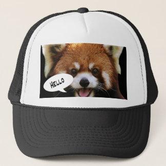 Boné Panda vermelha
