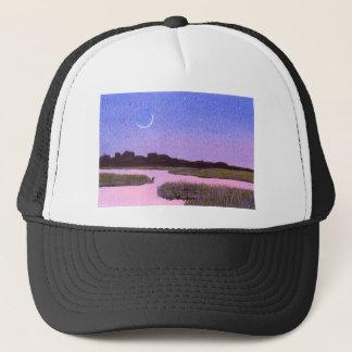 Boné Pântano crescente do crepúsculo da lua & da
